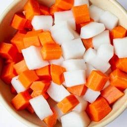 Pickled Daikon & Carrot Delivery (Vegan) แครอท,หัวไชเท้าดอง