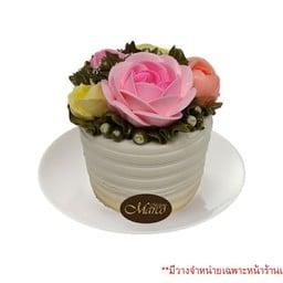 เค้กดอกไม้ วนิลา 3นิ้ว (ครึ่งปอนด์)