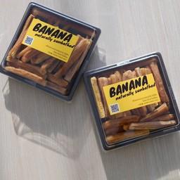 กล้วยอาบแดดธรรมชาติหั่นเส้น ไม่ชุบ ไม่แช่ ไม่เชื่อม