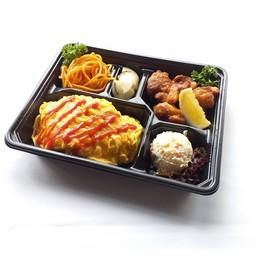 Omu-Rice & Karaage Bento