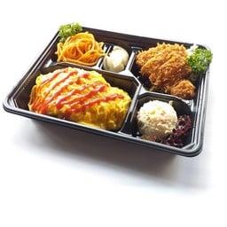 Omu-Rice & Tonkatsu Bento