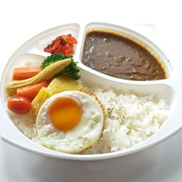 Vegetables Curry Rice Bento