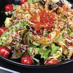 สลัดปลาเงินทอด (Shirauo Salad)
