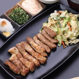 ชุดสเต็กหมูคุโรบูตะ