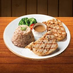 Double Western Pork Loin with organic rice