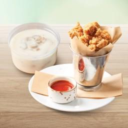 Chicken Pop + mushroom soup
