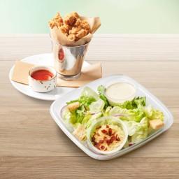 Caesar salad (s) + chicken pop