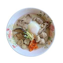 โจ๊กหมู + ทุกอย่าง + ไข่ไก่