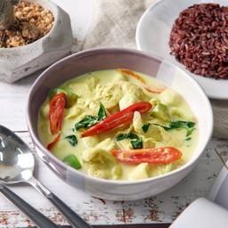 ข้าวไรซ์เบอรี่ + แกงเขียวหวาน Green Curry