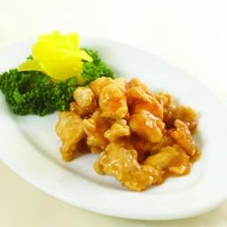 ไก่ทอดราดซอสมะนาว (S)