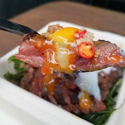 Grapao Steak Wagyuข้าวกระเพราสเต็กเนื้อวากิว