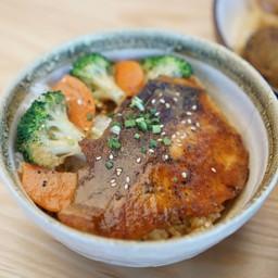 Salmon Miso Cream Rice Bowl