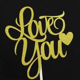 ป้าย Love You พรีเมียมสีทอง