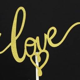 ป้าย Love พรีเมียมสีทอง