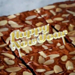 ป้าย Happy New Year สีทอง แบบมาตรฐาน