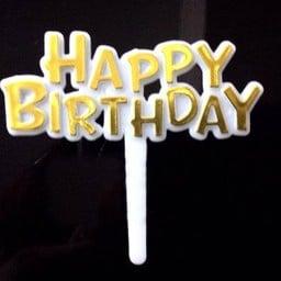 ป้าย Happy Birthday สีทอง แบบมาตรฐาน