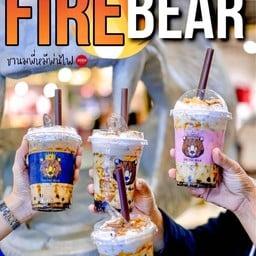 หมีพ่นไฟ สามพราน The fire bear sampran
