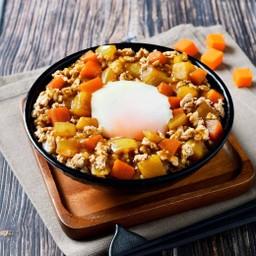 ข้าวแกงกะหรี่ไข่ออนเซน##1