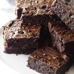 Homemade Dark Chocolate Brownie with Cocoa Nibs