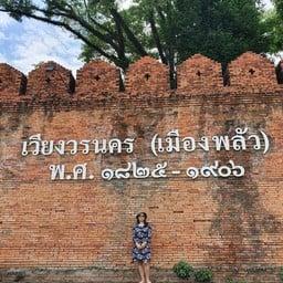 กำแพงเมืองโบราณ เวียงวรนคร (เมืองพลัว)