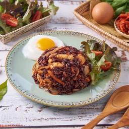 ข้าวไรซ์เบอรี่ผัดกิมจิโฮมเมด Homemade Kimchi Fried Rice