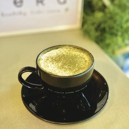 ชาเขียวมัทฉะร้อน (นมถั่วเหลือง)