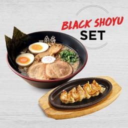 ลดพิเศษ - Lineman Black Shoyu Set Black Shoyu Special + Hakata Gyoza