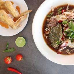 อร่อยตำ ยำแซ่บ Aroi Tum Yum Zap ถนนเจริญเมือง  ใกล้ไปรษณีย์สันป่าข่อย