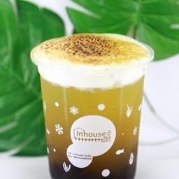บ้านสวนชาเขียวน้ำผึ้งมะนาววิปชีสพ่นไฟ