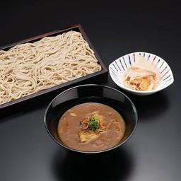 โซบะเย็นกับซุปแกงกะหรี่