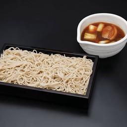 โซบะเย็นกับซุปเป็ดต้นหอมญี่ปุ่น