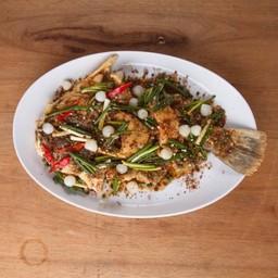 ปลากะพงพริกไทยกัมปอต