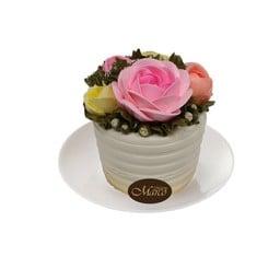 เค้กดอกไม้ วนิลา 3 นิ้ว