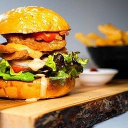 Chicken burger & french fries