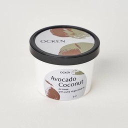 Avocado coconut Ice Cream with extra virgin olive oil 4oz