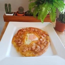 โรตีไข่ดาวแฮมไก่