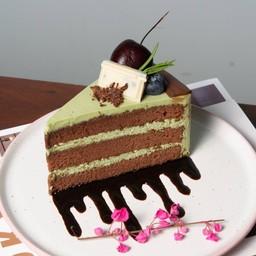 มัทฉะช็อกโกแลตเค้ก