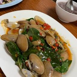 หอยตัวใหญ่ ไม่มีโคลนผัดมารสชาติดี