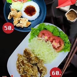 ข้าวไก่ทอดคาราเกะ