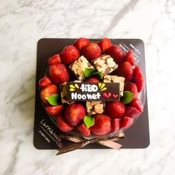 Strawberry brownie 1 pound with HBD label
