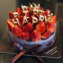 Strawberry blossom 1 pound with HBD candles