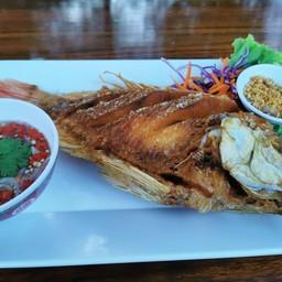 ปลาทับทิมทอด
