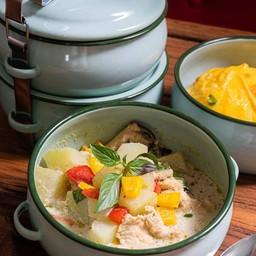 แกงเขียวหวานรสชาติจัดจ้านแแบบทางใต้ ก็สามารถมากินได้ที่แดนเทวดา