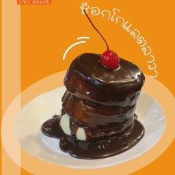 Pancake Box's  (ซูเฟล่แพนเค้กญี่ปุ่น) เจ้าเดิมสาขาตลาดนกฮูก
