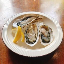 หอยนางรมสดและเลมอน 1p