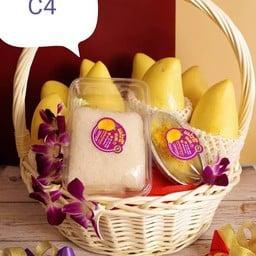 C4 ตะกร้าข้าวเหนียวมะม่วงรุ่นคลาสสิก มะม่วงไม่สุก