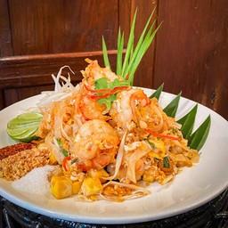 ผัดไทยโบราณกุ้งสด