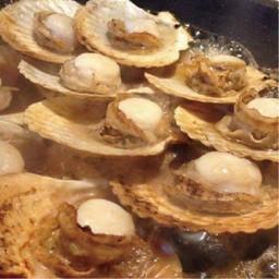 หอยเชลล์ย่างสไตล์ชาวประมงญี่ปุ่น 10 pcs