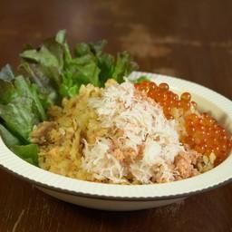 ข้าวผัดปลาแซลมอนและเนื้อปู, ไข่ปลาแซลมอน