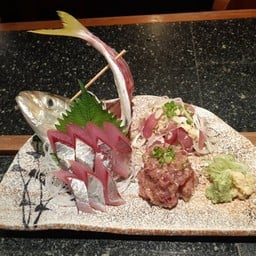 Aji 3shu mori(sashimi tataki namero)